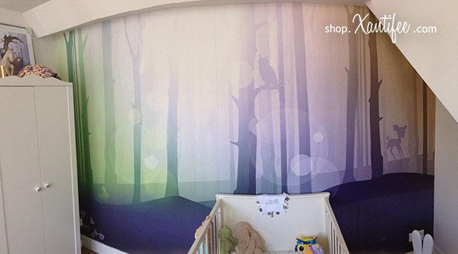 Prachtig behang met een dromerig bos uit de Xantifee collectie voor de kinderkamer.