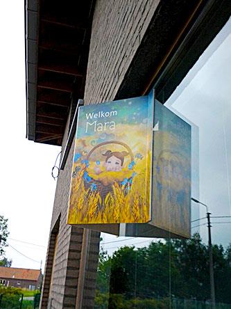 raambord02-mara-simon-geboortekaartje-zomer-koren-geel-mandje-bloemen-by-xantifee