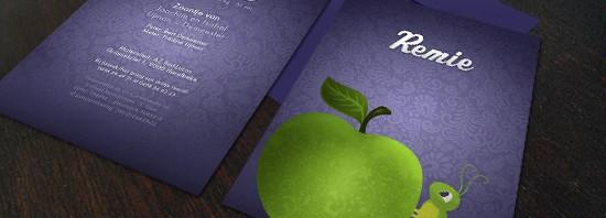 Geboortekaartje appel rupsje: Een sprookjesachtig geboortekaartje