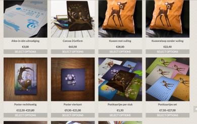 kraamcadeautjes geschenken illustraties Xantifee webshop postkaarten wenskaarten kussens canvas