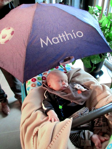 Paraplu levensboom en wieg mobile vreugde, liefde, geluk