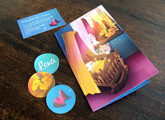 geboortekaartjes gent Lena draakje neuzen cuberdon babyborrelkaartje poes stickertjes