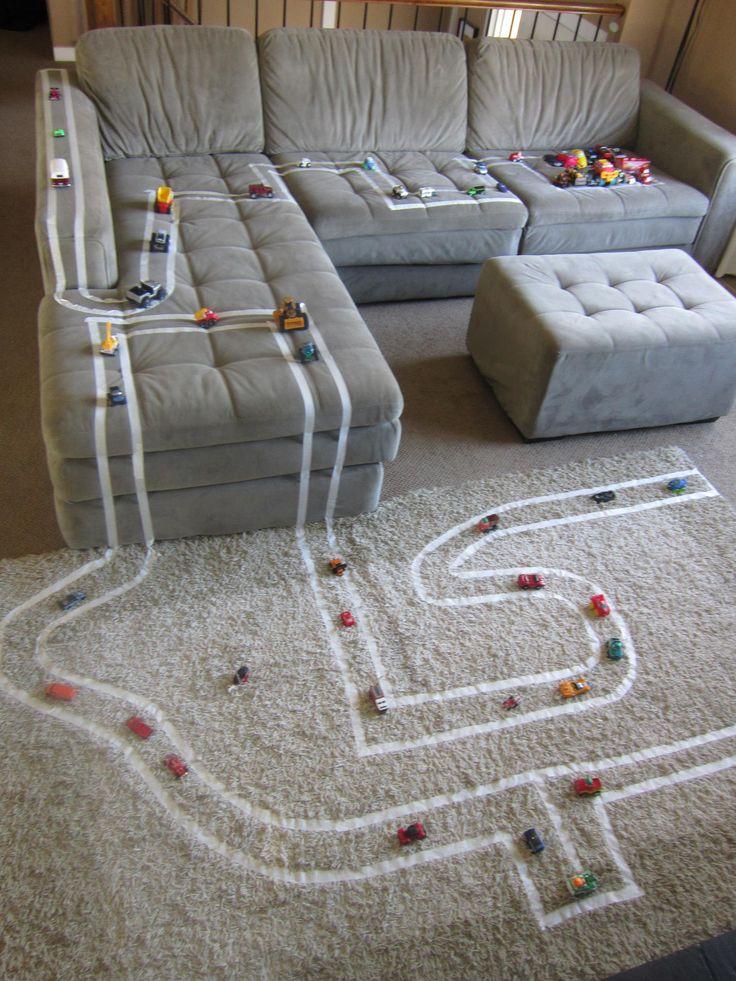 kinderen leren spelen xantifee-tips fun autos plakband snelweg