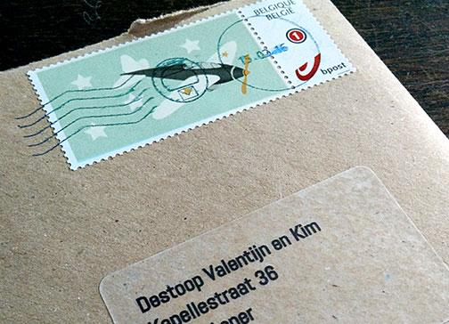 doopsuiker cas postzegel etiketten vliegtuig vintage geboorte
